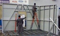 Строительство торговых павильонов в Абакане БМЗ